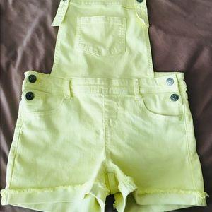 Girls short overalls